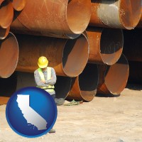 california a municipal engineer with iron sewer pipes