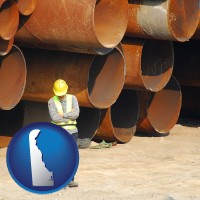 delaware a municipal engineer with iron sewer pipes