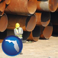 florida a municipal engineer with iron sewer pipes