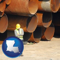 louisiana a municipal engineer with iron sewer pipes
