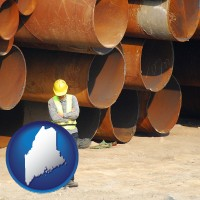 maine a municipal engineer with iron sewer pipes