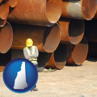 new-hampshire a municipal engineer with iron sewer pipes