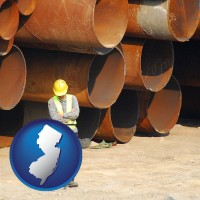 new-jersey a municipal engineer with iron sewer pipes