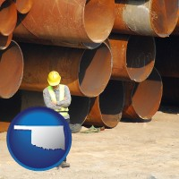 oklahoma a municipal engineer with iron sewer pipes